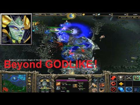 DotA 6.81d - Medusa, Gorgon Beyond GODLIKE !