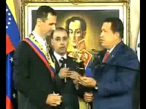 Chávez, condecoró a Bashar Al-Assad