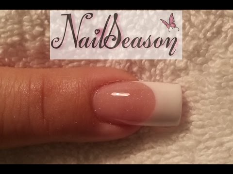 Acrylic Nails for Beginners Nail Art French manicure sculptured nails DIY Tutorial step by step 2015