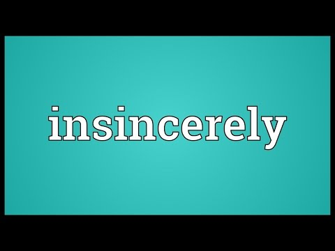 Header of insincerely