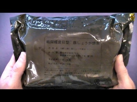MRE Review - Japanese Army Combat Ration (JSDF) - Sauteed Pork & Ginger