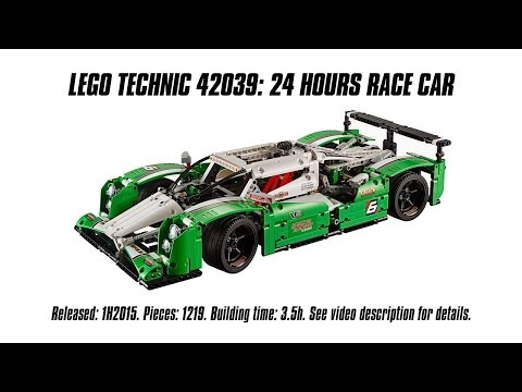 'Lego Technic 42039 24 Hours Race Car' Unboxing, Speed Build & Review ...