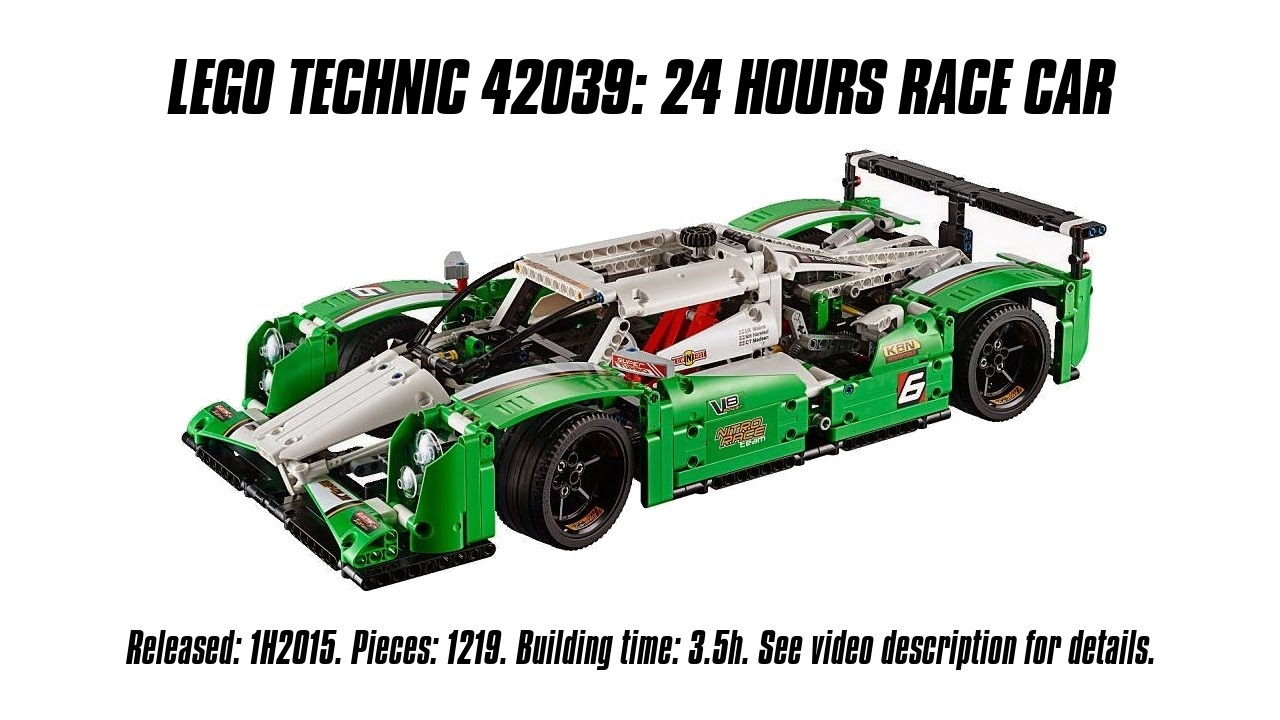 39 lego technic 42039 24 hours race car 39 unboxing speed. Black Bedroom Furniture Sets. Home Design Ideas
