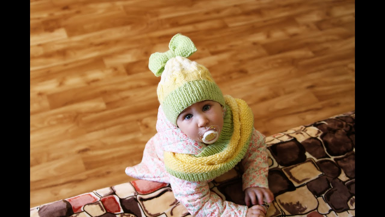 Вязание снуда для ребенка 846