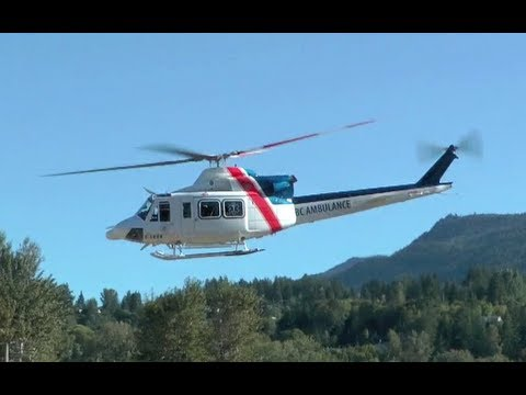 Bell 412 Air Ambulance Engine Startup and Takeoff
