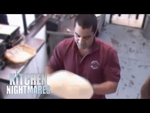 Pizza Dough Tossing Lessons - Kitchen Nightmares