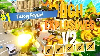 HIGH EXPLOSIVES V2 GAMEPLAY - ROCKETS ONLY!! (Fortnite: Battle Royale)