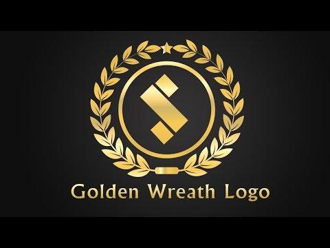 Golden Wreath Logo Design In Illustrator - Illustrator Tutorial - Illustrator CC