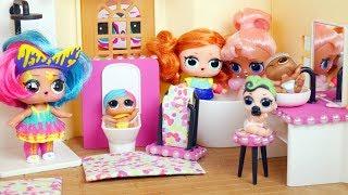 NEW LOL Surprise Dolls Custom Bathroom Playset - Morning Routine Fuzzy Pets