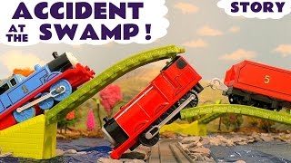 Thomas & Friends Toy Trains Swamp Accident Train Toys for Kids Trackmaster Rescue & Bloopers TT4U
