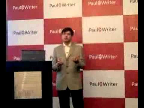 Sumit Virmani, Infosys - Services vs Product Marketing at Launch of Paul Writer
