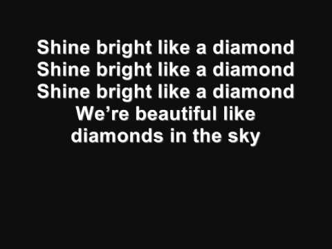 Rihanna Diamond Lyrics video