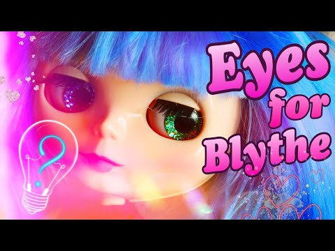 Making the Eyes for a Blythe Doll / How to extract the chip from the doll Blythe