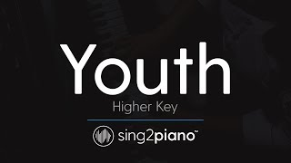 Youth (Higher Key - Piano Karaoke Instrumental) Shawn Mendes & Khalid