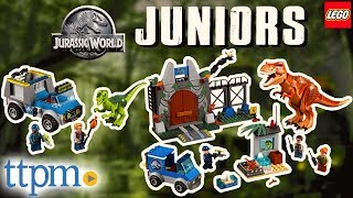 LEGO Juniors Jurassic World T. Rex Breakout & Raptor Rescue Truck [REVIEW] | LEGO Toys