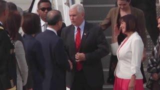 VP Pence Arrives In South Korea
