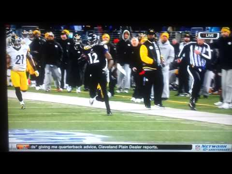 Steelers coach tries to trip ravens player