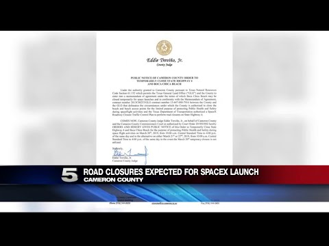 Road Closures Due to SpaceX Testing in Boca Chica