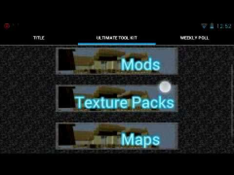 Como Poner Mods, Texturas y Mapas en Minecraft Pocket Edition ANDROID 2013
