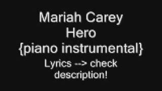 Mariah Carey - Hero {piano instrumental}
