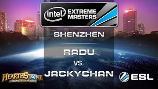 Radu vs. jackychan - Group B - IEM Shenzhen - Hearthstone