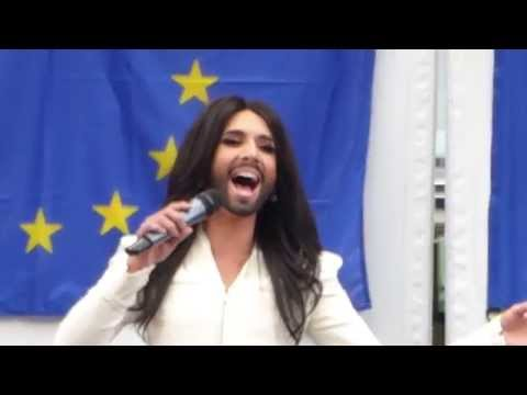 Conchita Wurst - live @ European Parliament 2/2 (8 October 2014)
