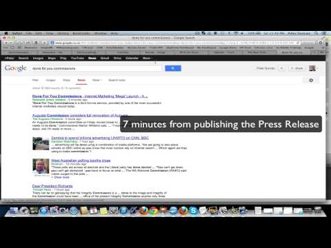 Press Release Services Test - 7 minutes to index