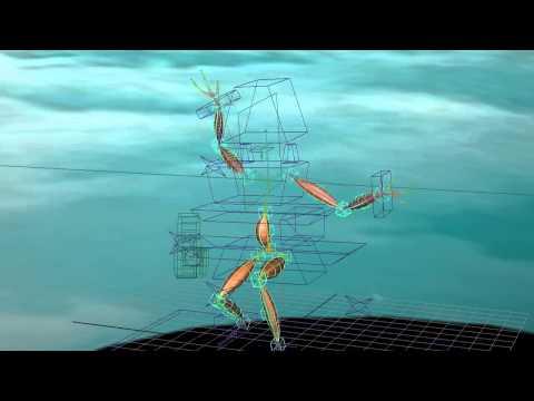 Animacion 3D esqueleto y musculos