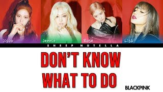 Download Song BLACKPINK - Don't Know What To Do [Color Coded Lyrics HAN/ROM/ENG] Free StafaMp3