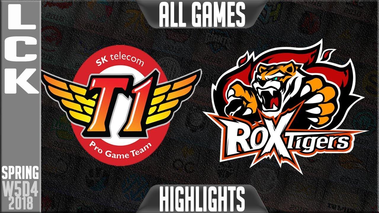 SKT vs ROX Highlights ALL GAMES | LCK Week 5 Spring 2018 W5D4 | SK Telecom T1 vs ROX Tigers