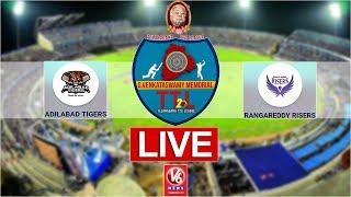 Rangareddy Risers Vs Adilabad Tigers LIVE | 2nd Semi-Final | Telangana T-20 League