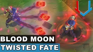 Blood Moon Twisted Fate Skin Spotlight (League of Legends)