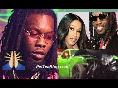 Offset Hospitalized after Car Wreck, Cardi B Rushes by his side 🙏