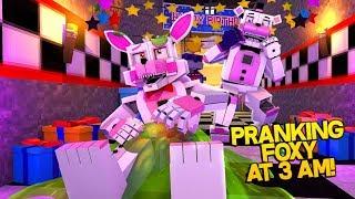Minecraft Fnaf: Pranking Funtime Foxy At 3 Am (Minecraft Roleplay)