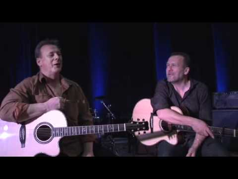 Tony McManus and Martin Simpson with their Private Stock PRS Acoustics - NAMM 2011