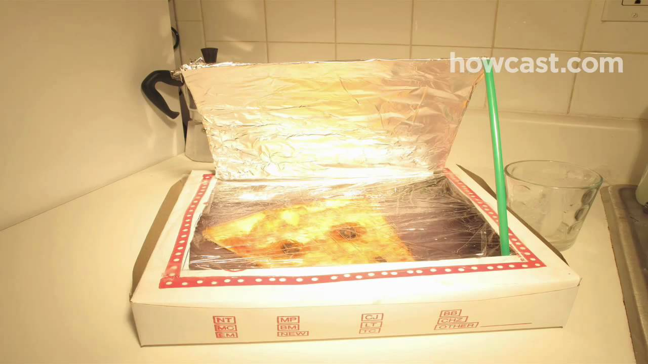 how to turn a pizza box into a solar oven youtube. Black Bedroom Furniture Sets. Home Design Ideas