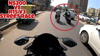 NS200 vs R15 V3 | Deadly STREET RACE | Legend vs Devil !