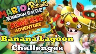 Mario + Rabbids Kingdom Battle Donkey Kong Adventure Walkthrough! (Banana Lagoon Challenges)