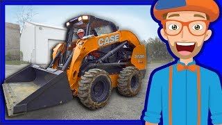 Construction Vehicles for Kids with Blippi | Skid Steer