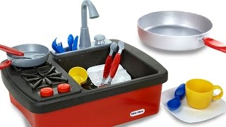 Pretend Play for Kids | Splish Splash Sink and Stove Playset | Children Playing in the Kitchen Toys