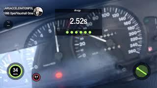 Opel Omega 2.5 V6 Acceleration - 0-100km/h Nice Sound