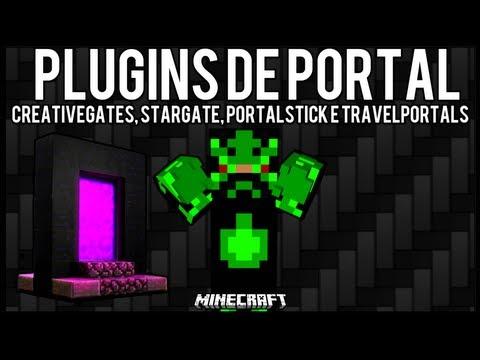 [Tutorial]Pack Plugins de Portal - CreativeGates. Stargate. PortalStick e TravelPortals Minecraft