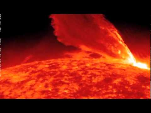 Massive Solar Flare Solar Storms Monster Plasma Waves Erupting