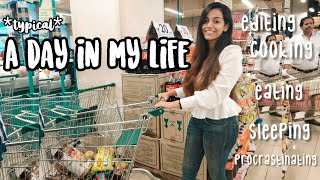 Typical Day in a life of an Indian YouTuber, Cooking, Dmart grocery shopping, Brilante serum review