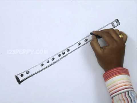 Видео как нарисовать флейту