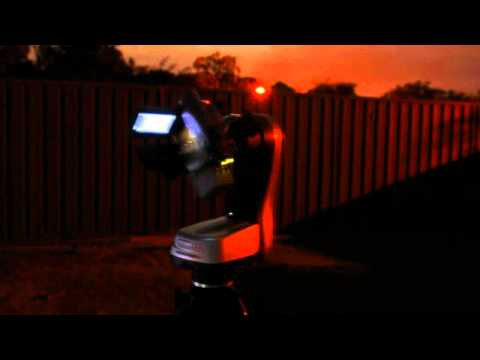 Satellite Tracking with the Orion Teletrack Alt/Az Mount - Timelapse