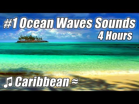 VERY RELAXING 4 Hour Video of Ocean WAVES Caribbean Tropical Beach Sounds videos
