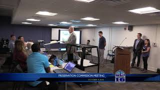 Preservation Commission Meeting 10/9/2018