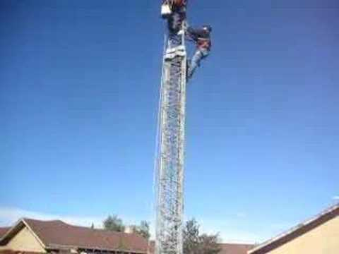 Ham Radio XE2K   Working on Ham Radio Tower By K6EG