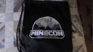 MineCon Swag Bag | MineCon 2012 Trip - Part 2 (Pre-MineCon)